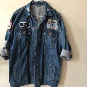 Pit Crew Denim Shirt Jacket